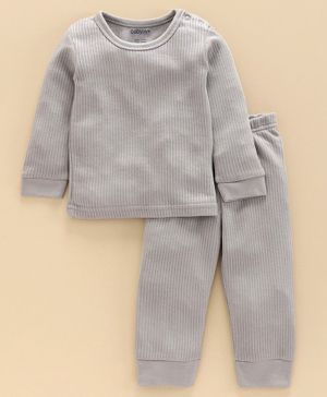 Babyoye Cotton Blend Super Soft Biowash Thermal Inner Wear Set - Grey