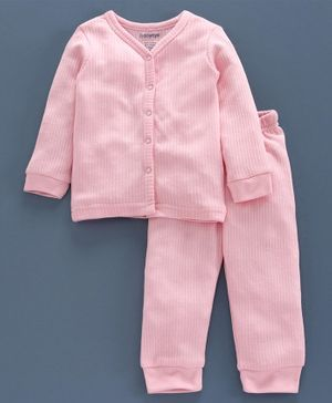 Babyoye Cotton Blend Super Soft Biowash Thermal Inner Wear Set - Pink