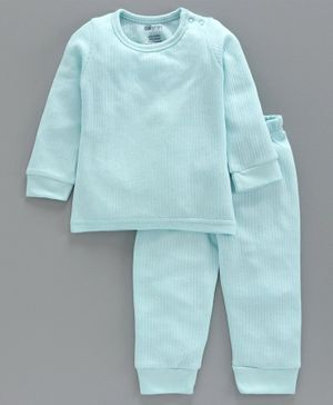 Babyoye Cotton Blend Super Soft Biowash Thermal Inner Wear Set - Sky Blue