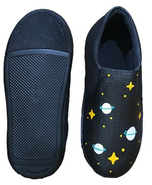 The Zokart Hand Painted Space Print Shoes - Black