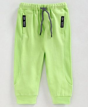 Babyoye Cotton Full Length Lounge Pant with Drawstring - Green