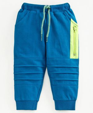 Babyoye Cotton Full Length Cut & Sew Lounge Pant - Blue