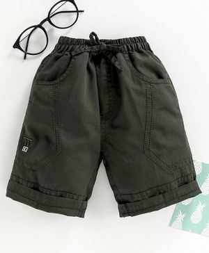 Attack Solid Shorts with Drawstring - Olive