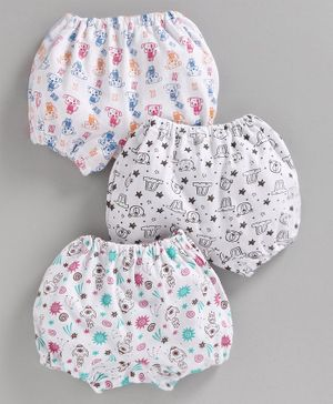 Bodycare Bloomers Puppy Print Pack of 3 (Color May Vary)