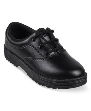 Kittens Shoes Laced Up School Shoes - Black