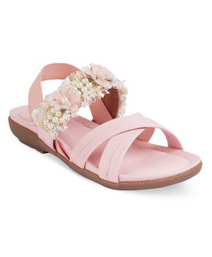 Kittens Shoes Flower Decor Detailing Sandals - Light Pink