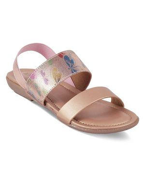 Kittens Shoes Flower Print Detailing Sandals - Pink
