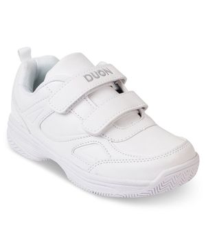 DUON by Kittens Shoes Double Velcro Closure Shoes - White