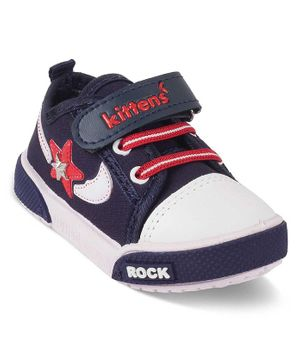 Kittens Shoes Star Patch Shoes - Navy