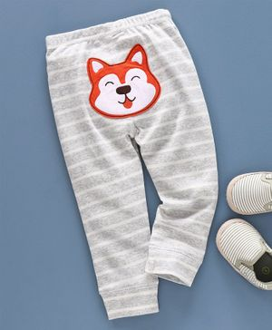 Kookie Kids Full Length Lounge Pant Animal Embroidery - Grey