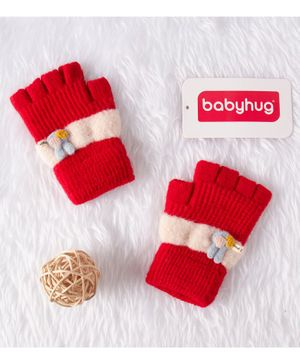 Babyhug Woolen Gloves - Red