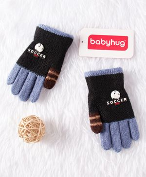 Babyhug Woolen Gloves - Blue