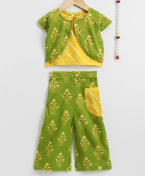 Exclusive from Jaipur Indo Western Set  - Yellow Green