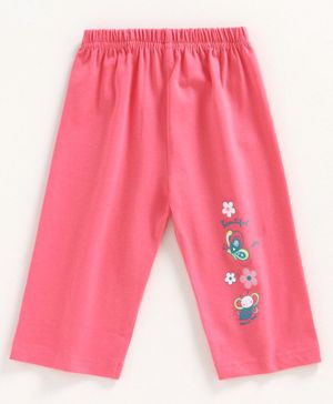 Tango Full Length  Lounge Pant Butterfly Print - Pink