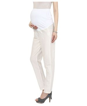 Mamacouture Full Length Straight Pants - Beige