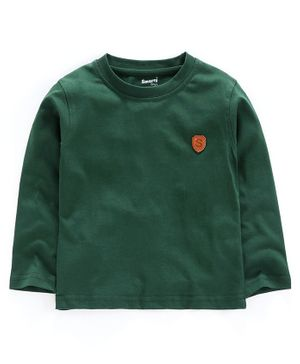 Smarty Full Sleeves Tee S Patch - Green