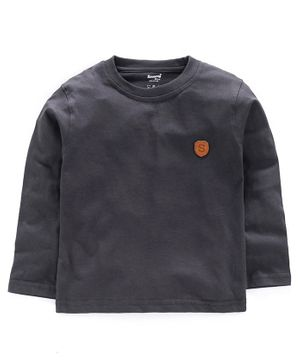 Smarty Full Sleeves Tee S Patch - Grey