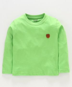 Smarty Full Sleeves Tee S Patch - Lime Green