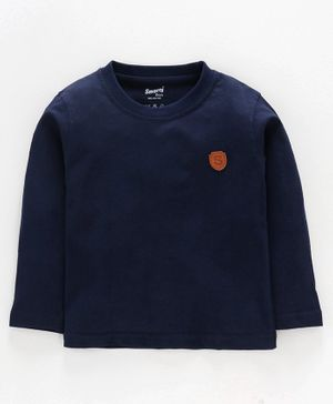 Smarty Full Sleeves Tee S Patch - Navy