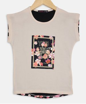 Ziama Front Back Printed Short Sleeves Top - Off White