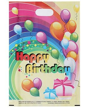 Karmallys Printed Happy Birthday Bag- Multicolored