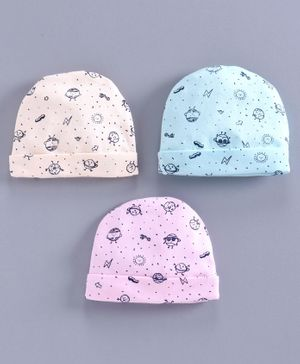Simply Caps Sun Print Pack of 3 - Blue Peach