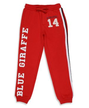 Blue Giraffe 14 Patch Pant - Red