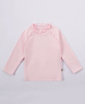 Kookie Kids Full Sleeves Solid Color Top - Pink