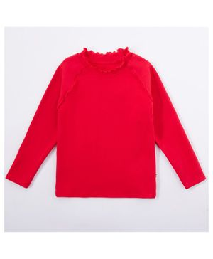 Kookie Kids Full Sleeves Solid Color Top - Red