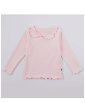 Kookie Kids Full Sleeve Solid Color Top - Pink
