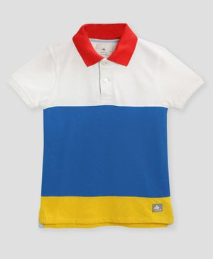 Cherry Crumble California Half Sleeves Solid Polo T-Shirt - Multicolor
