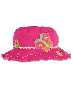 Stephen Joseph Butterfly Patch Hat - Pink