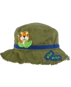 Stephen Joseph Tiger Patch Detailing Bucket Hat - Green