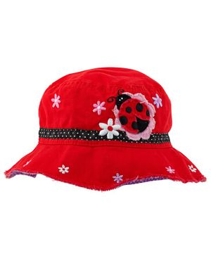 Stephen Joseph Ladybug Patch Detailing Bucket Hat - Red