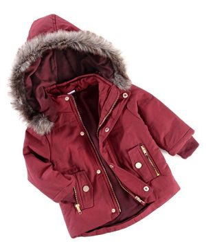 Babyhug Full Sleeves Hooded Jacket - Red