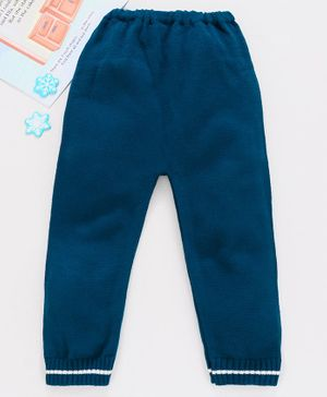 Babyhug Winter Wear Full Length Lounge Pant - Navy Blue