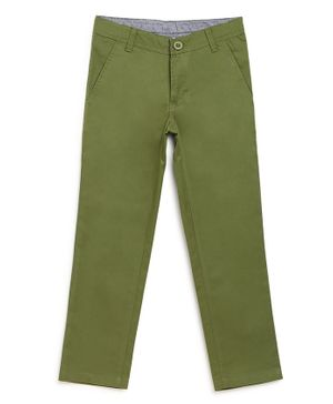 Campana Solid Trousers - Green
