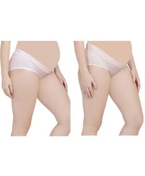 MAMMA PRESTO Pack of 2 Low Rise Maternity Panty - Peach