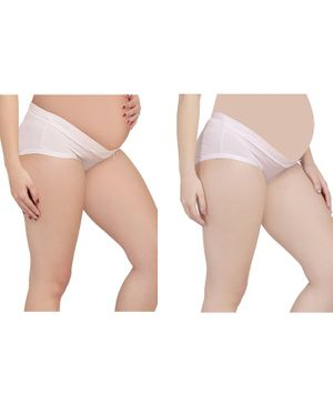 MAMMA PRESTO Pack of 2 Low Rise Maternity Panty - Pink
