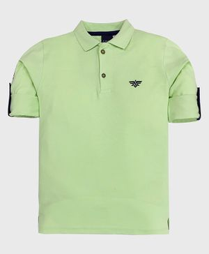 CAVIO Solid Full Sleeves Polo Tee - Green