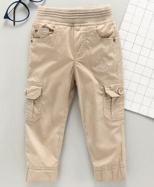 Jash Kids Full Length Pull Up Cargo Pants - Beige