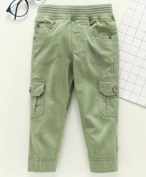 Jash Kids Full Length Pull Up Cargo Pants - Light Green