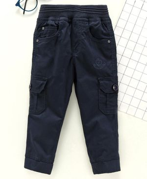 Jash Kids Full Length Pull Up Cargo Pants - Navy Blue