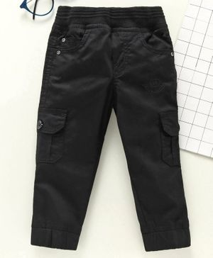 Jash Kids Full Length Pull Up Cargo Pants - Black