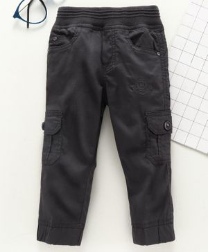Jash Kids Full Length Pull Up Cargo Pants - Grey