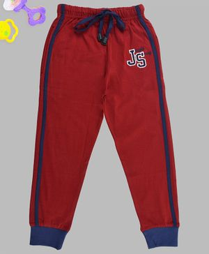 Crazy Penguin JS Patch Side Tape Track Pant - Maroon