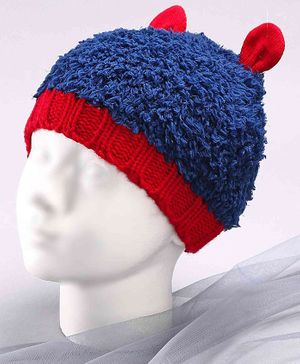Babyoye Woollen Cap with 3D Ears Blue -  Diameter 13 cm