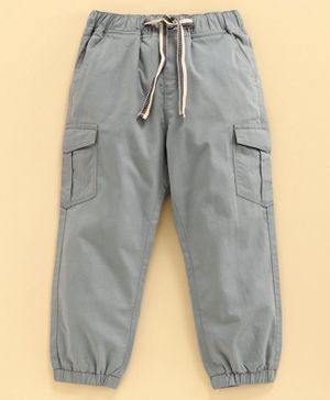 Babyoye Full Length Cotton Cargo Pant - Grey