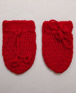 Knit Masters Solid Mittens - Red