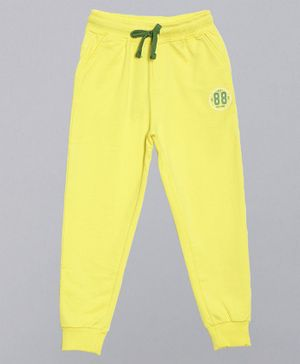3PIN 88 Printed Full Length Joggers - Yellow